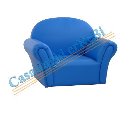 POLTRONCINA BABY ECOPELL BLU    CDP1341