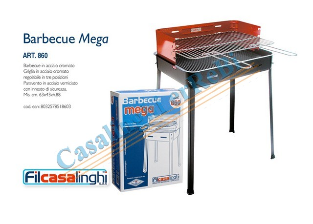 *BARBECUE ART.860 MEGA 63X43XH88