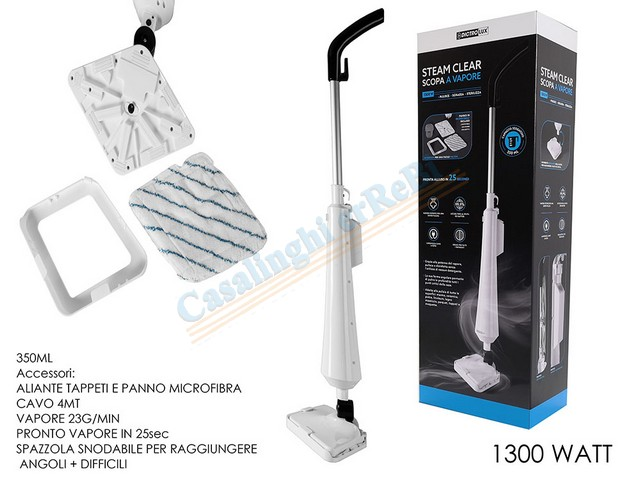 SCOPA A VAPORE 1300W ""\""STEAM CLEAR""\""640480|?|9907fce7a0ebe73ae38c34709f6ec311|False|UNLIKELY|0.3142073452472687