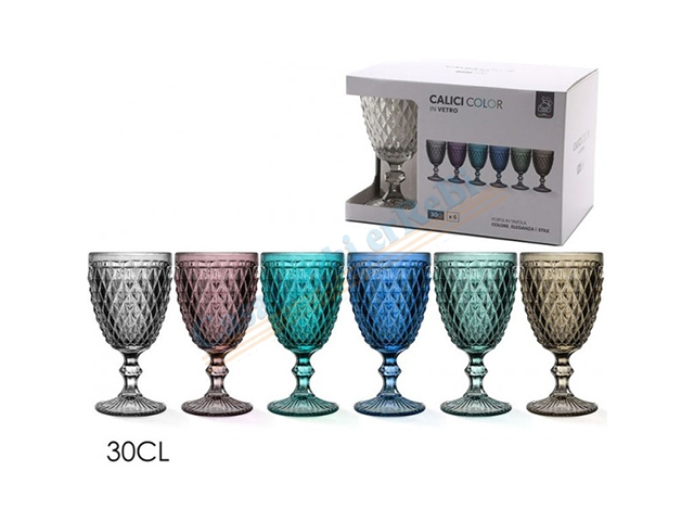 SET 6 CALICI IMPERIALE 30CL 6ASS