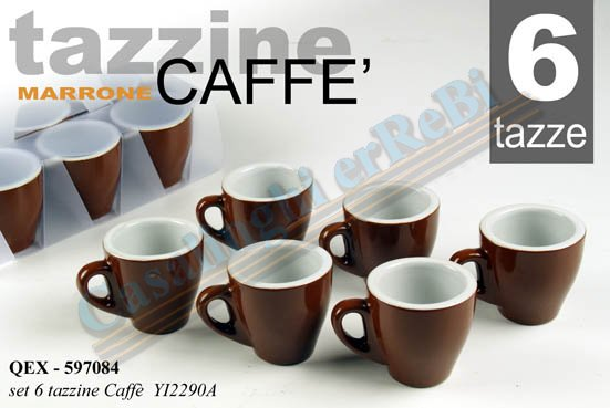 SET 6PZ CAFFE MARRONE 80ML  597084