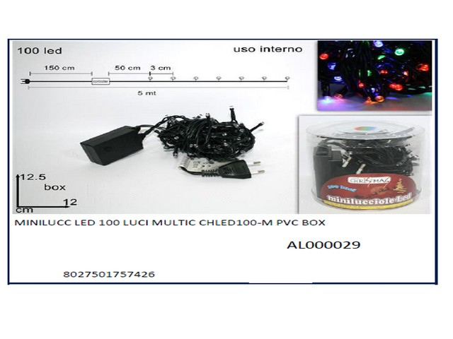 *MINILUCC LED 100 LUCI MULTIC CHLED10