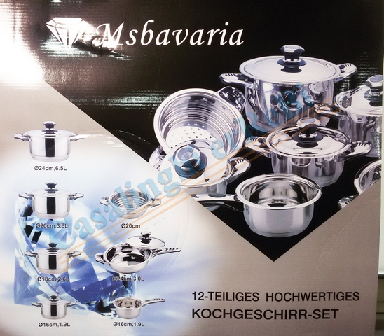*BATTERIA 12PZ WHITE DIAMOND BAVARIA