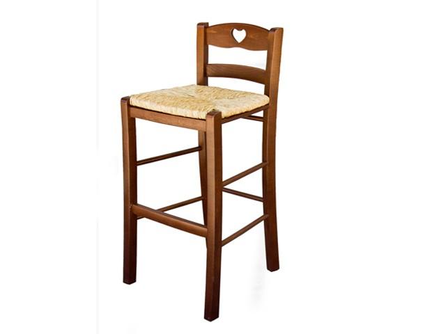 Sgabello legno paglia snack h s sed div sedie legno