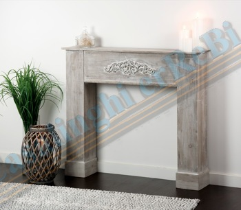 CONSOLE CAMINETTO GRIG. 110X23X96H  37351 SHABBY CHIC AD TREND
