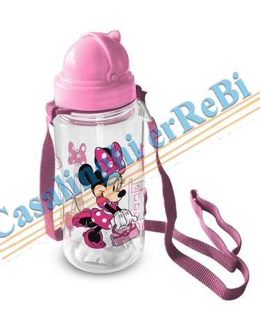 BORRAC PLASTICA MINNIE 450ML D7X20 46846